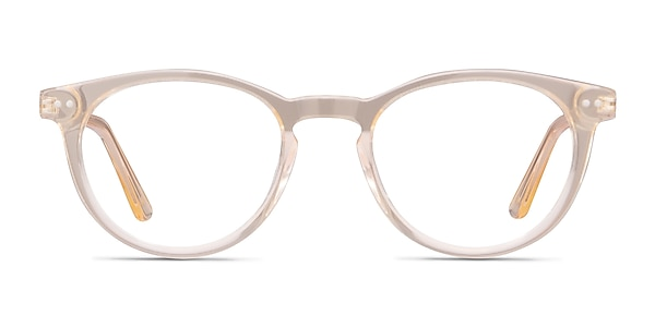 Traveller Clear Melon Acetate-metal Eyeglass Frames