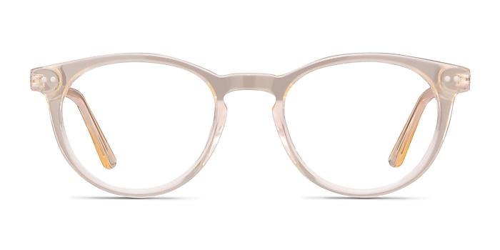 Traveller Clear Melon Acetate-metal Eyeglass Frames from EyeBuyDirect