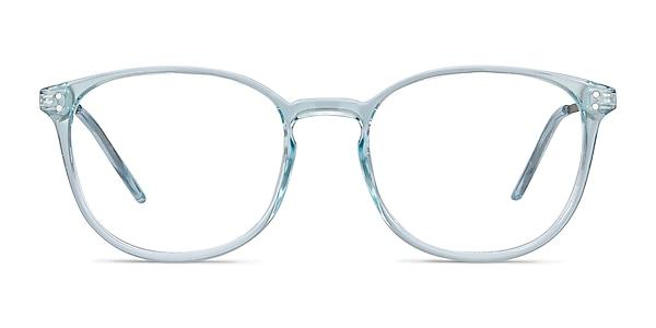 Spoken Clear Blue Plastic-metal Eyeglass Frames