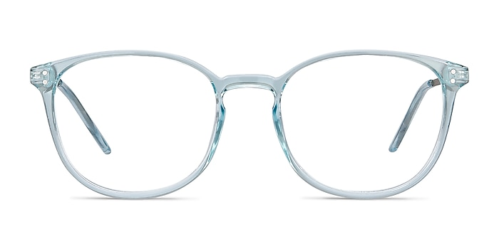 Spoken Clear Blue Plastic-metal Eyeglass Frames from EyeBuyDirect