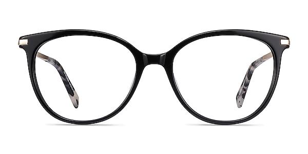 Attitude Black Acetate-metal Eyeglass Frames