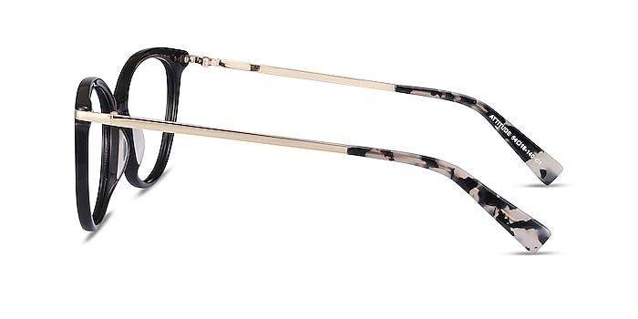 Attitude Black Acetate-metal Eyeglass Frames from EyeBuyDirect