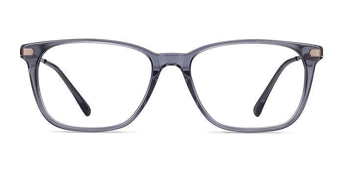Plaza Gray Acetate-metal Eyeglass Frames from EyeBuyDirect