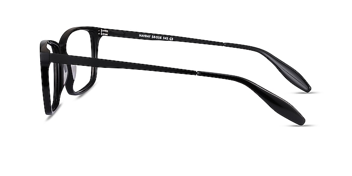 Hayday Black Acetate-metal Eyeglass Frames from EyeBuyDirect