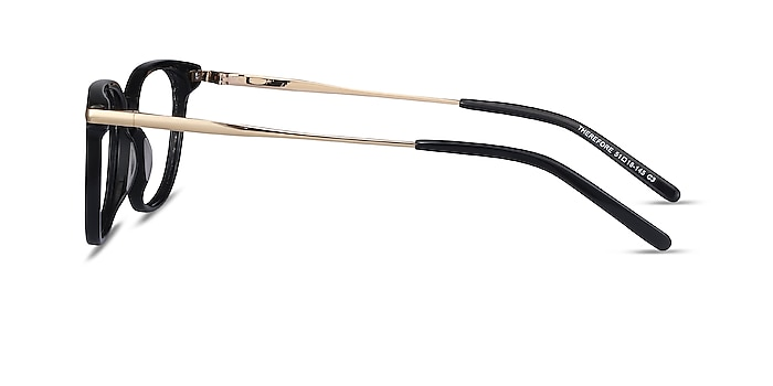 Therefore Black Acetate-metal Eyeglass Frames from EyeBuyDirect