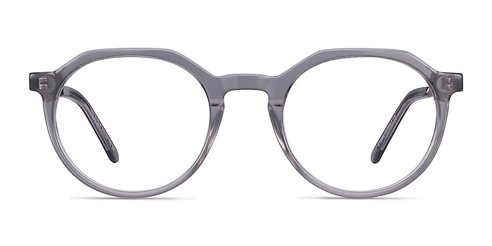 The Cycle Gray Acetate-metal Eyeglass Frames from EyeBuyDirect