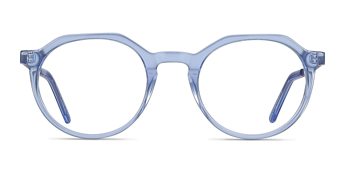 The Cycle Blue Acetate-metal Eyeglass Frames from EyeBuyDirect