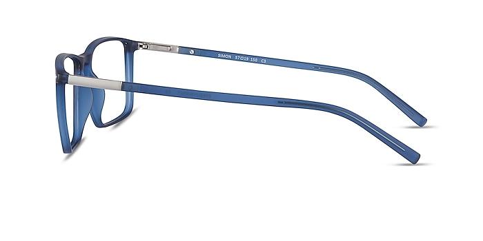 Simon Blue Plastic-metal Eyeglass Frames from EyeBuyDirect