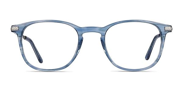 Toulouse Blue Acetate-metal Eyeglass Frames