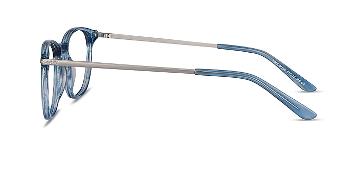 Toulouse Blue Acetate-metal Eyeglass Frames from EyeBuyDirect