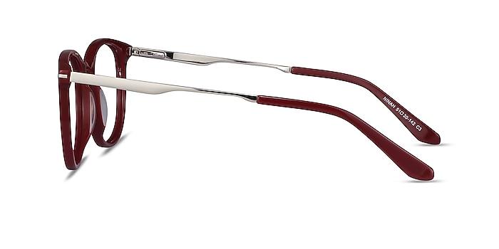 Ninah Burgundy Acetate-metal Eyeglass Frames from EyeBuyDirect