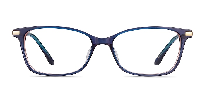 Vanda Bleu Acetate-metal Montures de lunettes de vue d'EyeBuyDirect