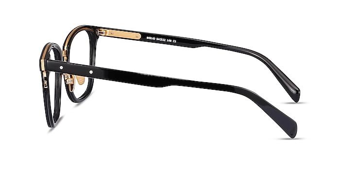Biblio Black Acetate-metal Eyeglass Frames from EyeBuyDirect