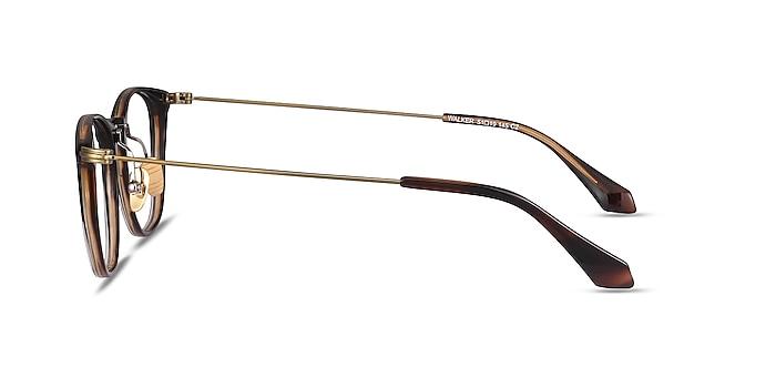 Walker Black Brown Acetate-metal Eyeglass Frames from EyeBuyDirect