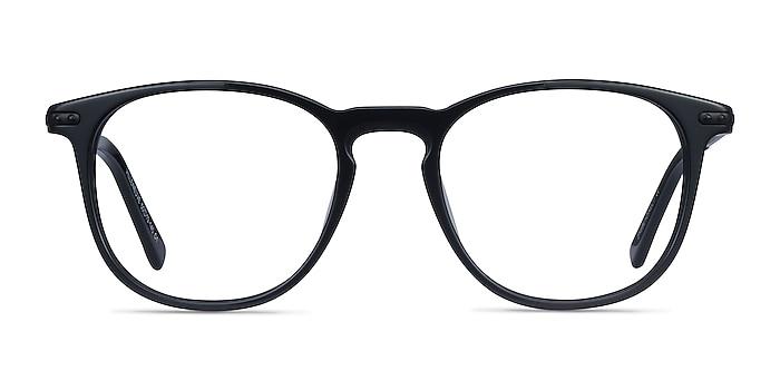 Villeneuve Black Acetate-metal Eyeglass Frames from EyeBuyDirect