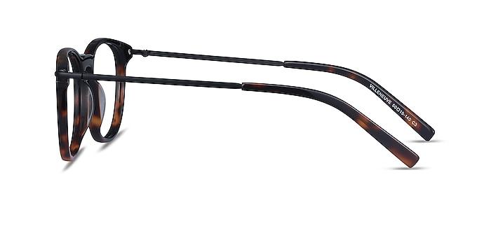 Villeneuve Écaille Noire Acetate-metal Montures de lunettes de vue d'EyeBuyDirect