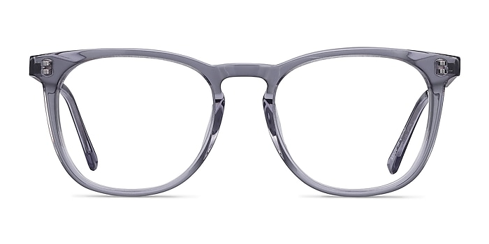 Vibes Clear Gray Acetate-metal Eyeglass Frames from EyeBuyDirect