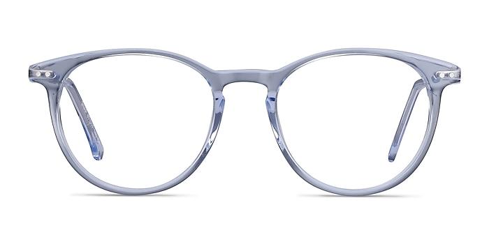 Snap Clear Blue Acetate-metal Eyeglass Frames from EyeBuyDirect