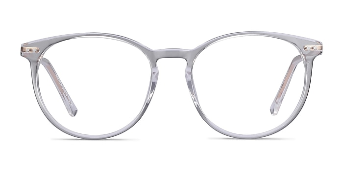 Clever Clear Acetate-metal Eyeglass Frames from EyeBuyDirect