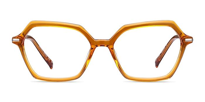 Carmel Mustard Acetate-metal Montures de lunettes de vue d'EyeBuyDirect