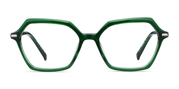 Carmel Green Acetate-metal Eyeglass Frames