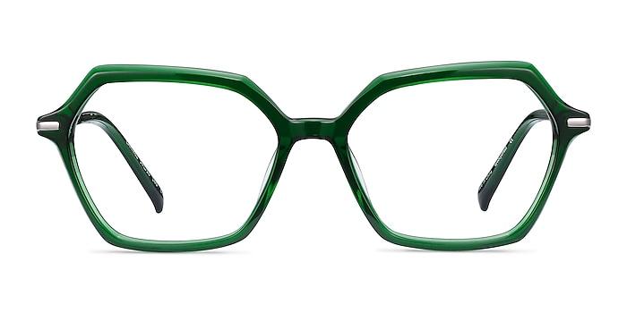 Carmel Green Acetate-metal Eyeglass Frames from EyeBuyDirect