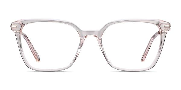 Dearly Clear Beige Acetate-metal Eyeglass Frames
