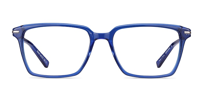 Sense Blue Acetate-metal Eyeglass Frames from EyeBuyDirect