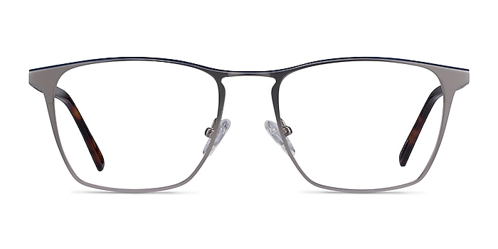 Jacob Gunmetal & Tortoise Acetate-metal Eyeglass Frames from EyeBuyDirect