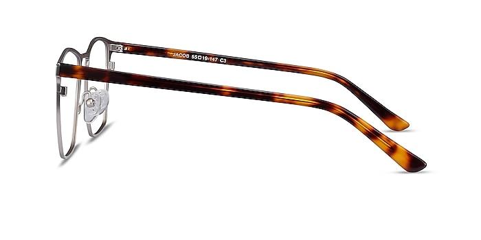 Jacob Silver & Tortoise Acetate-metal Eyeglass Frames from EyeBuyDirect