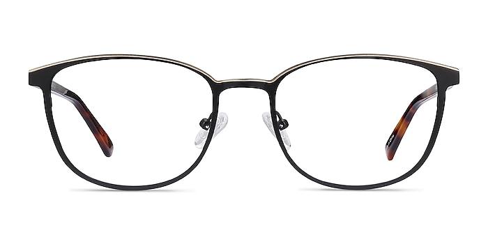 Guide Black & Tortoise Acetate-metal Eyeglass Frames from EyeBuyDirect
