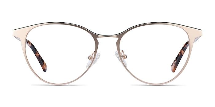 Vestige Gold & Tortoise Acetate-metal Eyeglass Frames from EyeBuyDirect