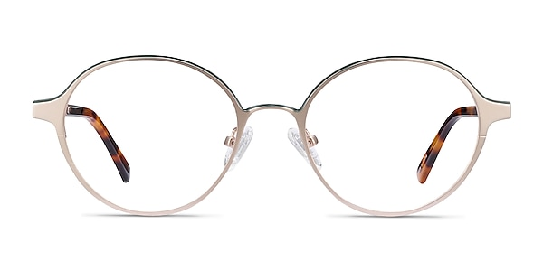 Observer Gold & Tortoise Acetate-metal Eyeglass Frames