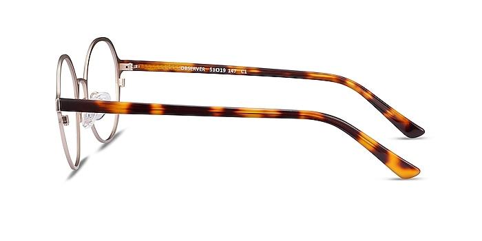 Observer Gold & Tortoise Acetate-metal Eyeglass Frames from EyeBuyDirect