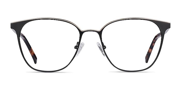 Azimut Noir Acetate-metal Montures de lunettes de vue d'EyeBuyDirect
