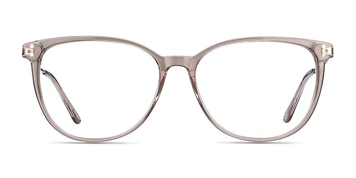 Nebulous Clear Brown Acetate-metal Eyeglass Frames from EyeBuyDirect