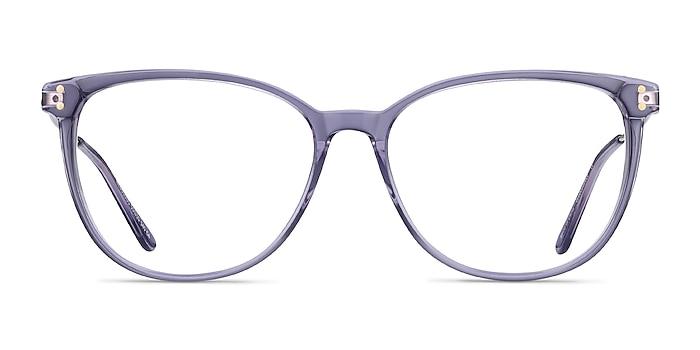 Nebulous Clear Purple Acetate-metal Montures de lunettes de vue d'EyeBuyDirect