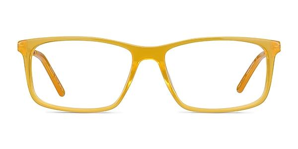 Marvel Jaune Acetate-metal Montures de lunettes de vue