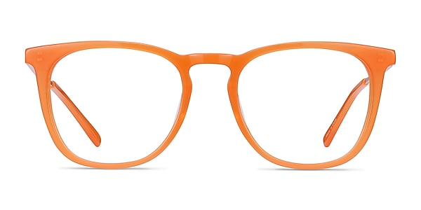 Vinyl Orange Acetate-metal Eyeglass Frames