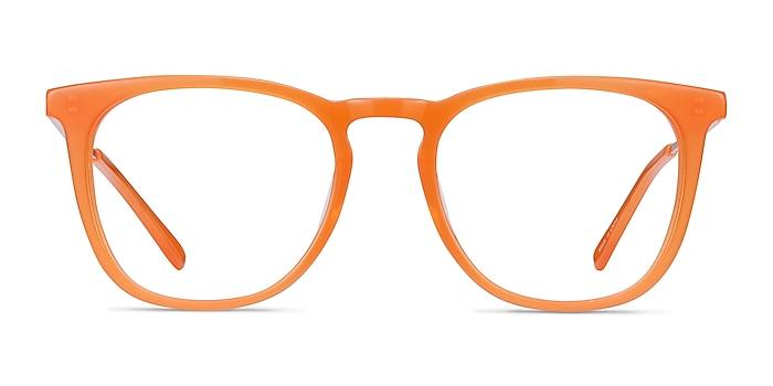 Vinyl Orange Acetate-metal Eyeglass Frames from EyeBuyDirect