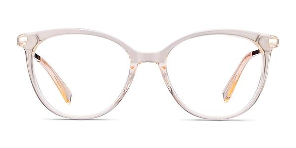 Attitude Clear Melon Acetate-metal Eyeglass Frames