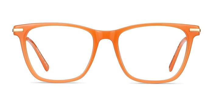 Sebastian Orange Acetate-metal Eyeglass Frames from EyeBuyDirect