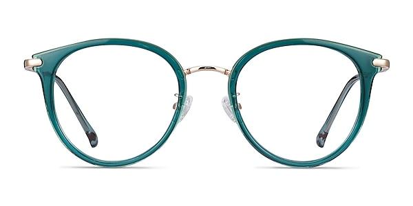 Hollie Teal Plastic-metal Montures de lunettes de vue