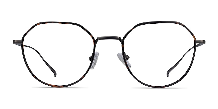 Huxley Tortoise  Gunmetal Metal Eyeglass Frames from EyeBuyDirect