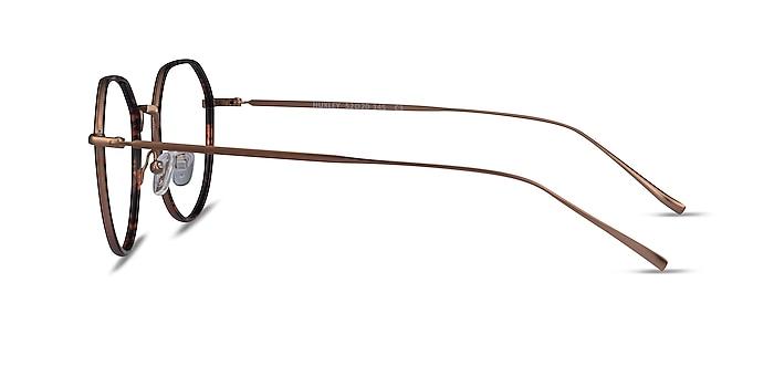 Huxley Tortoise  Bronze Métal Montures de lunettes de vue d'EyeBuyDirect