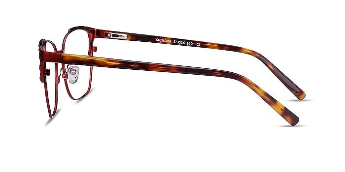 Signora Red Acetate-metal Eyeglass Frames from EyeBuyDirect