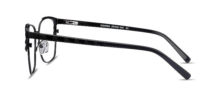 Signora Black Acetate-metal Eyeglass Frames from EyeBuyDirect