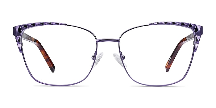 Signora Violet Acetate-metal Montures de lunettes de vue d'EyeBuyDirect
