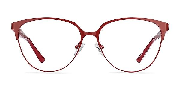 Marigold Red & Leopard Acetate-metal Eyeglass Frames
