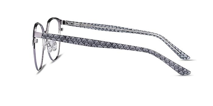 Marigold Silver & Reptile Acetate-metal Eyeglass Frames from EyeBuyDirect